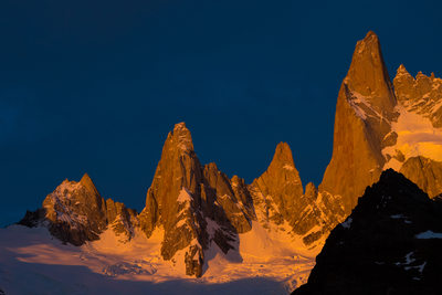 Fine art photograph of first light on Mount Fitz Roy