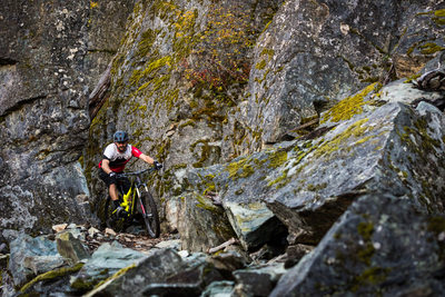 Mountain biking action sports photographer in Whistler