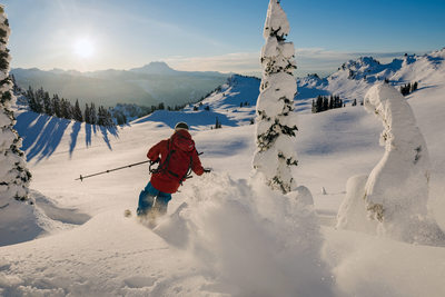 Winter action sports photographer in Whistler, Canada