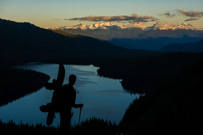 Summer splitboard adventure photography in Whistler