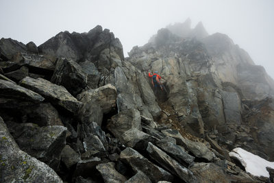 Canadian scrambling, hiking and adventure photography