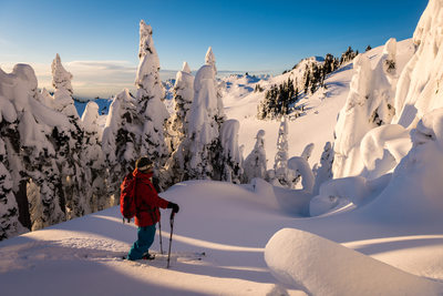 Ski touring and back country lifestyle photographer