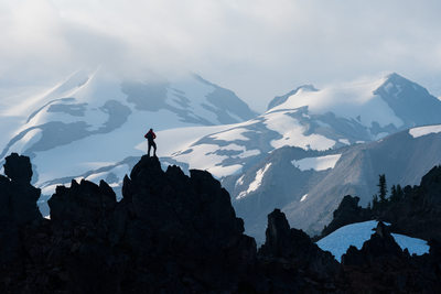 Back country solo adventure travel in Garibaldi Park