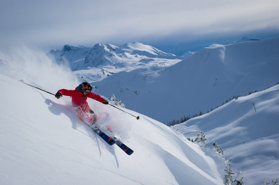 Whistler skiing action sports photography by Mike Crane