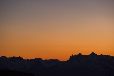 Sunset over British Columbia's Coast Mountain Range