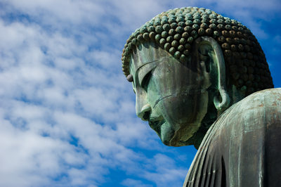 Daibutsu in Kamakura, Japan - Stock Photo