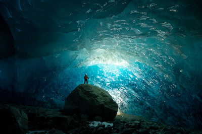 Ancient Glacial Ice Cave Fine Art