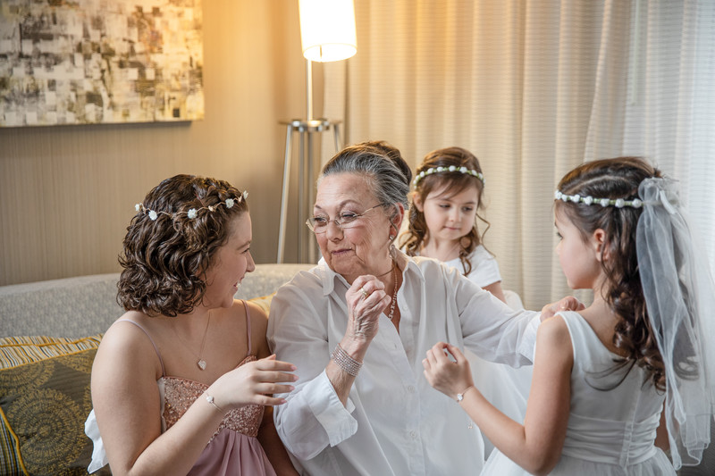 Candid Wedding Photography: Flower Girls and Grandmother