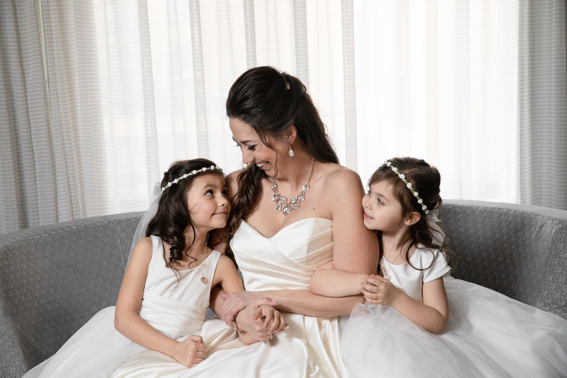 Candid Wedding Photography: Bride and Daughters