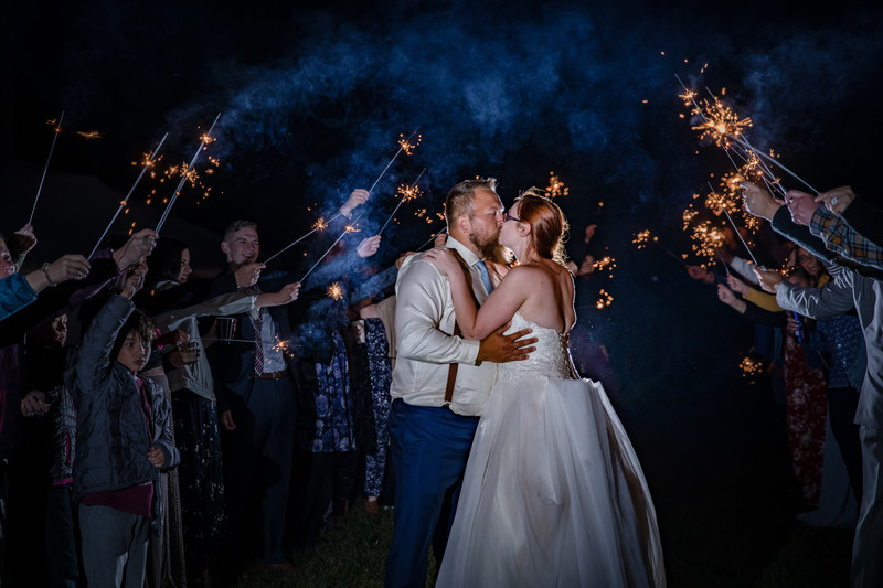 Fun Wedding Photography: Sparkler Exits
