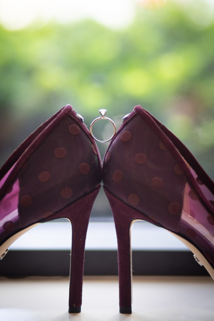 Wedding Details: Polka Dot Shoes