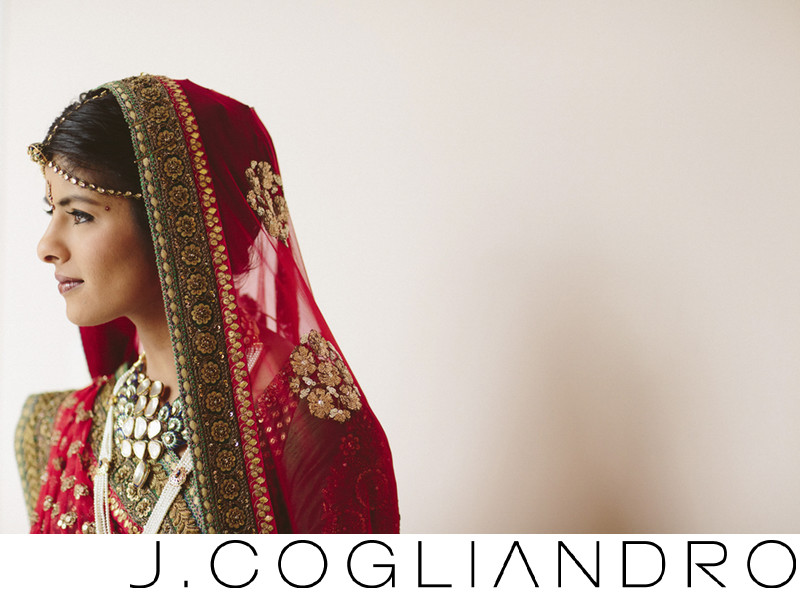 Beautiful Indian Bridal Portrait at Chateau Cocomar