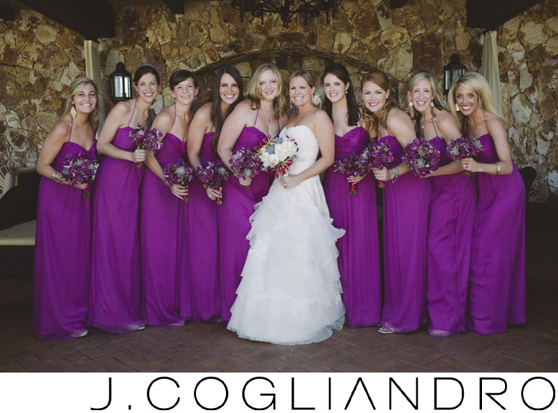 Beautiful Bridal Party Wedding Portraiture in Los Cabos