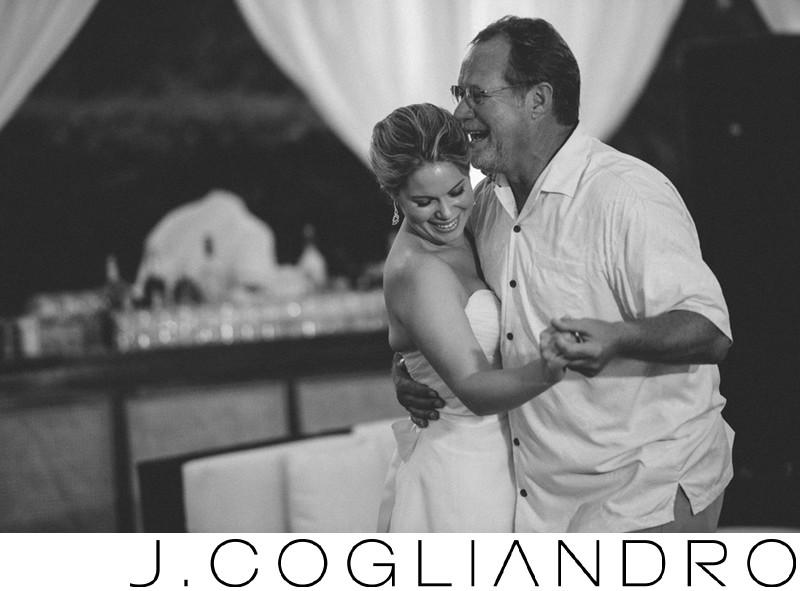 Father Daughter Dance at Destination Wedding in Bahamas