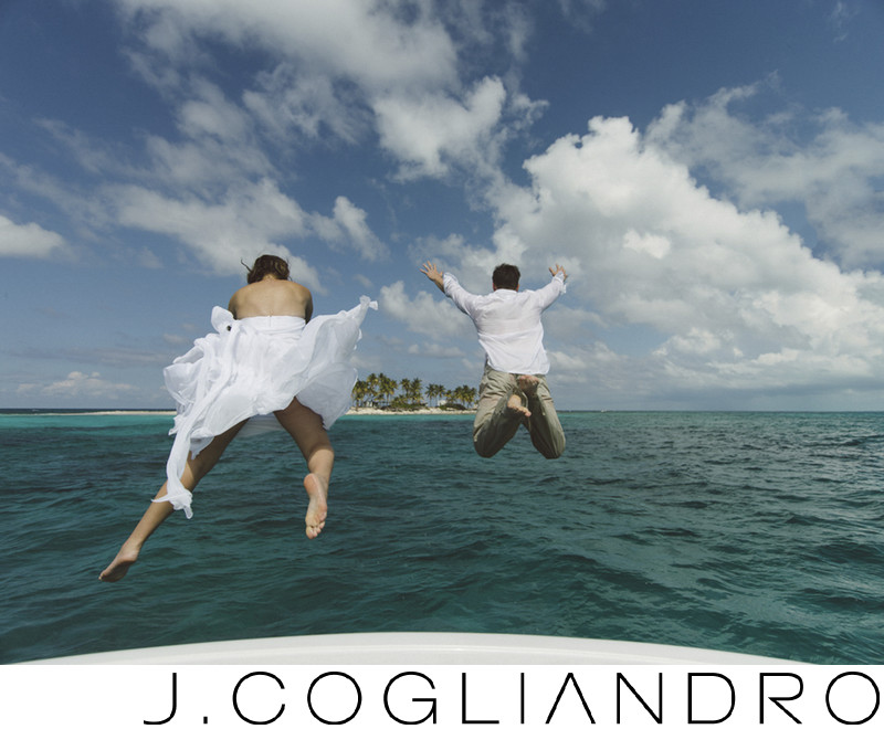 Taking the Plunge in the Bahamas Wedding Photography