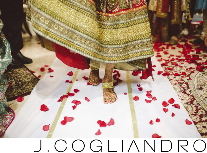 Bridal Walk at Chateau Cocomar South Asian Wedding