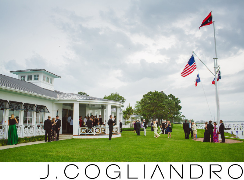 Reception on the Banks at Texas Corinthian Yacht Club