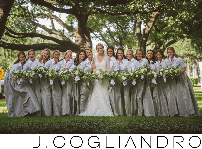 Bridal Party Wedding Portraiture in Houston