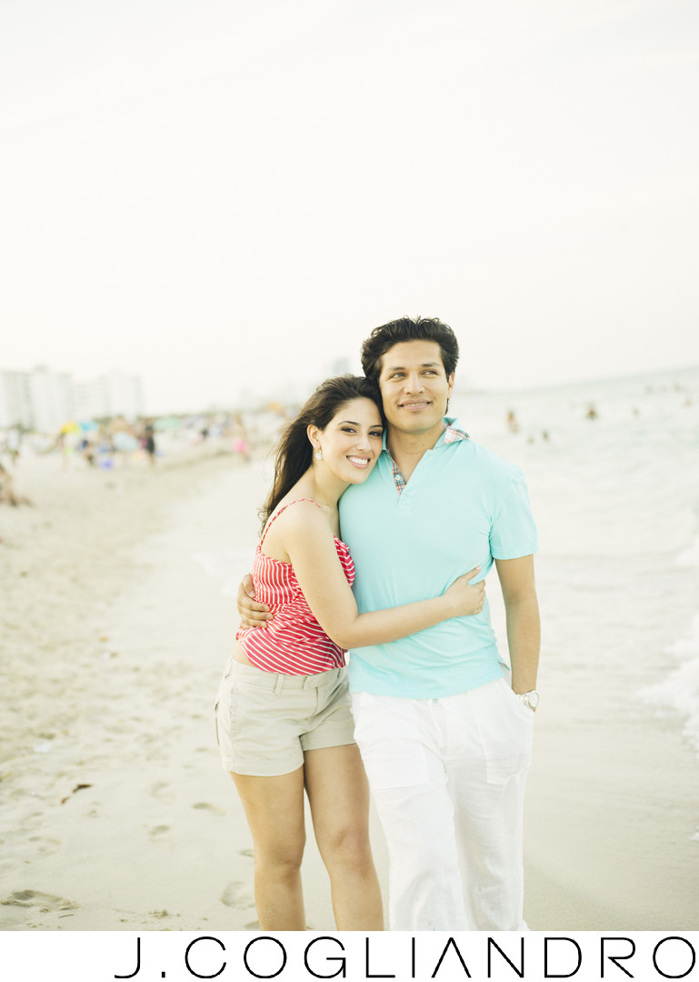 South Beach Engagement Photography