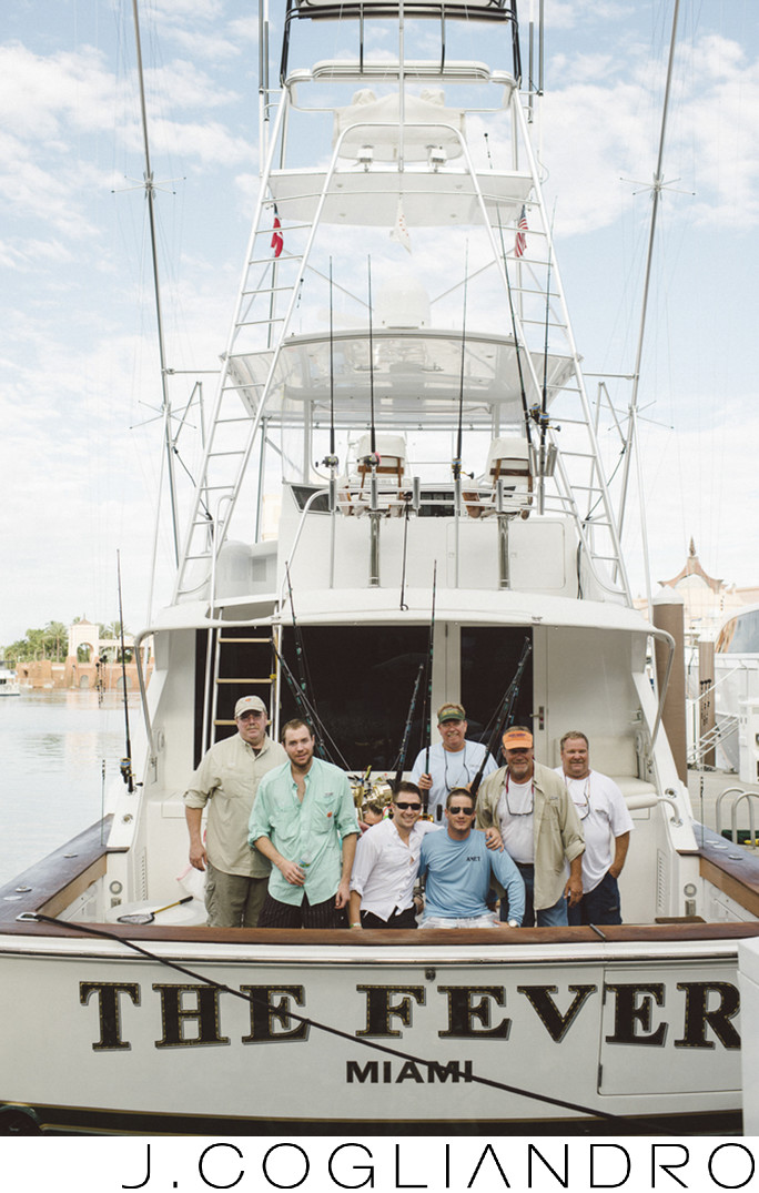 Groomsmen Fishing Trip Wedding Day Photography Bahamas