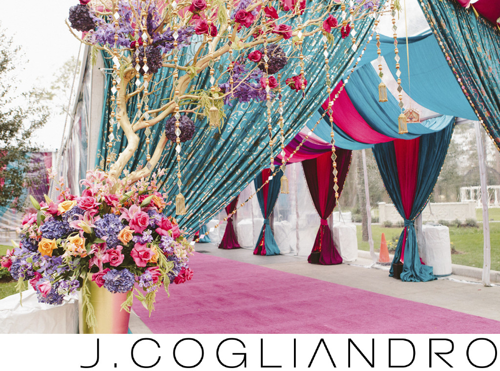 Colorful Wedding Ceremony Photography in Houston