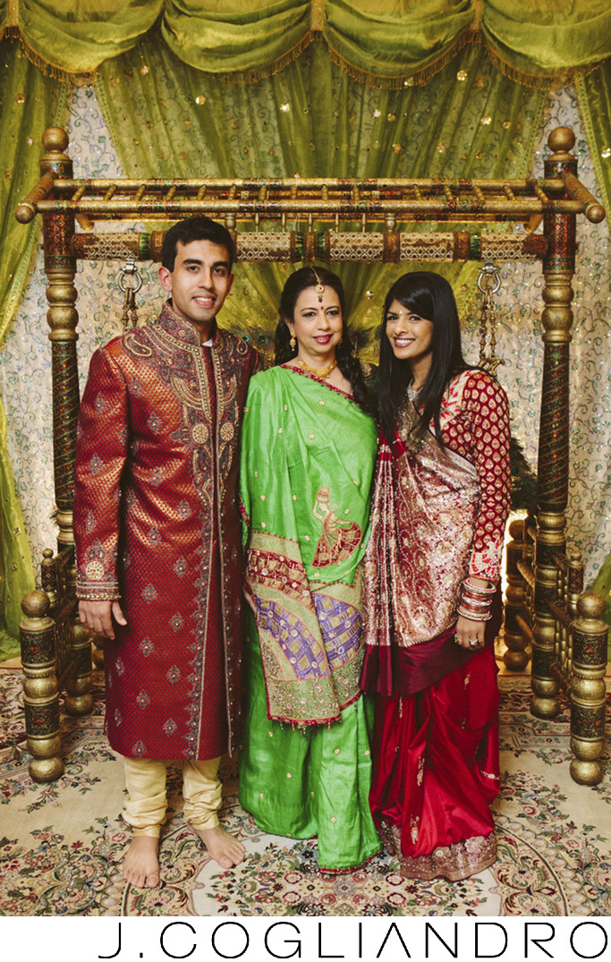 South Asian Wedding Family Portraiture in Houston