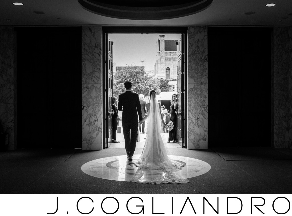 The Bride and Groom Emerge Fine Art Wedding Photography