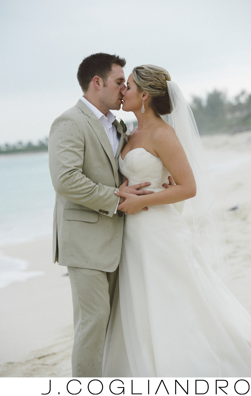 A Romantic Kiss Destination Wedding Photography Bahamas