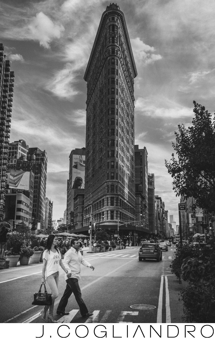 New York Engagement Photography at Flat Iron Building