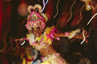 Dancer at the Welcome Party Weddings at The Bahamas