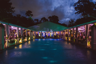 Colorful Wedding Reception at The Bayou Club in Houston