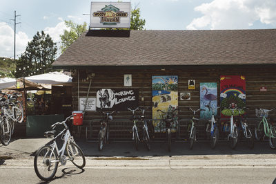 Bike Ride to Woody Creek Tavern