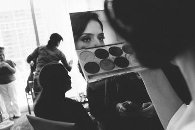 Bride Make Up Check at Epic Hotel Wedding Photography