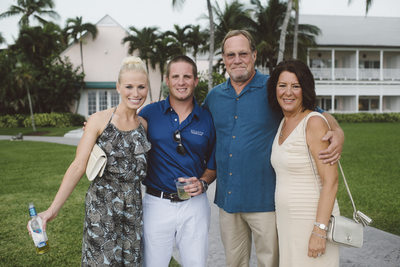 Rehearsal Dinner Family Portraiture in The Bahamas