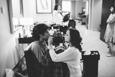Bridal Prep Best Houston Black and White Photography