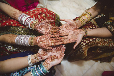 Variations of Henna at South Asian Wedding in Houston
