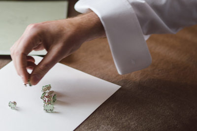 Elegant Groom Cufflinks Houston Wedding Photography