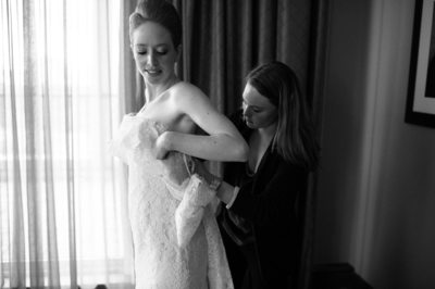 Dressing the Bride Fine Art Photography at Hotel ZaZa