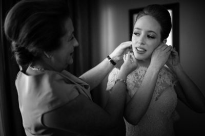 Mother Helps Dress the Bride Wedding Photojournalism