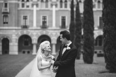 Bride and Groom Just Married at Rice University Houston