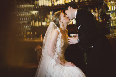 Sneak a Kiss at La Colombe D'or Weddings in Houston