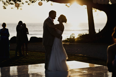 Bride and Groom First Dance at Maui, Hawaii