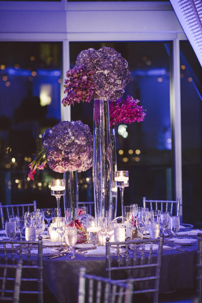 Wedding Reception Floral Design at Epic Hotel in Miami
