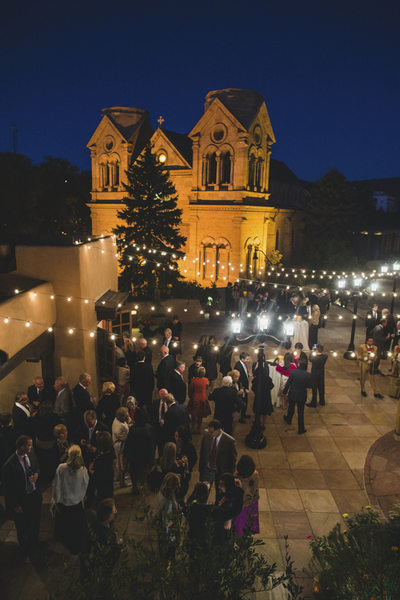 Santa Fe Reception Under Lights Wedding Photographer