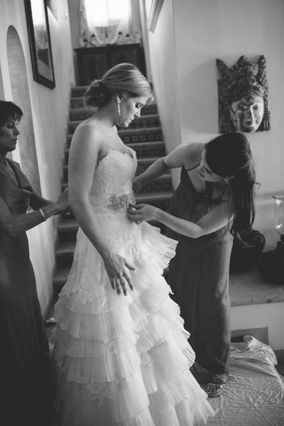 Gown Adjustments Mexico Destination Wedding Photography