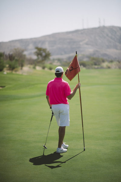 Groom Enjoys Wedding Golf at Querencia Golf Club Mexico