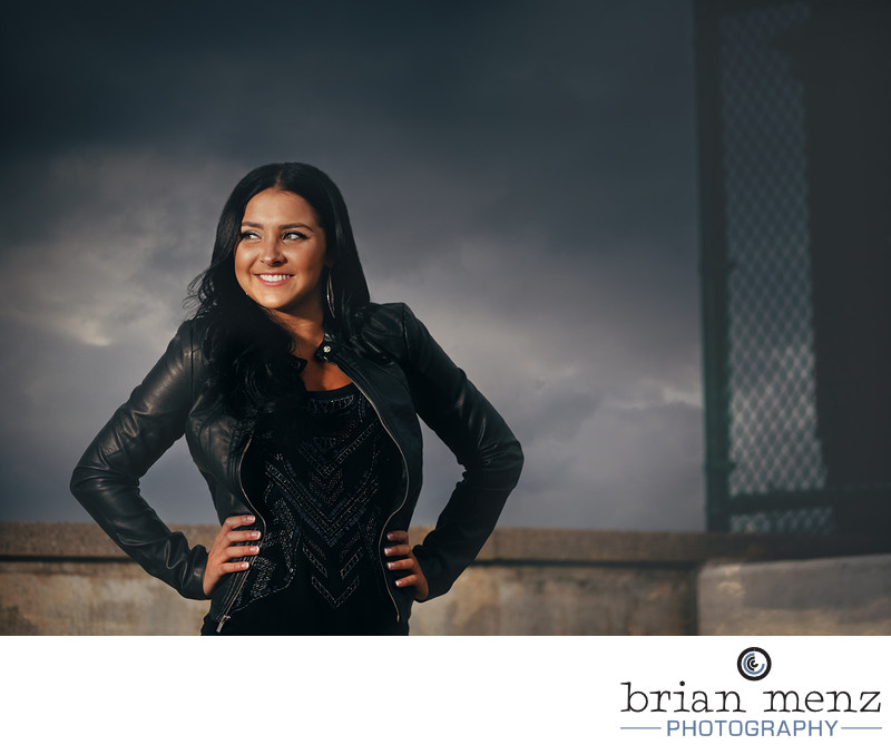 kalamazoo-senior-photographer-leather-jacket-high-school-