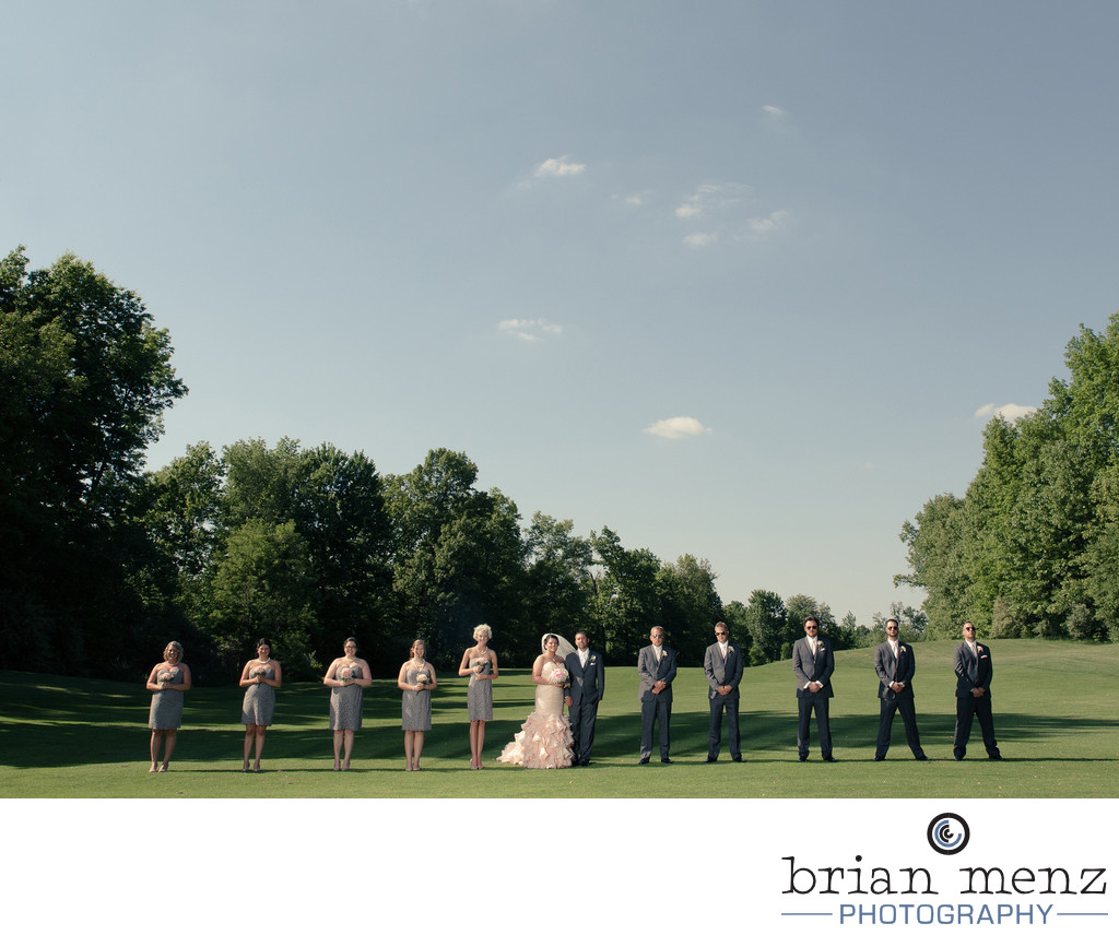 golf course wedding photo kalamazoo michgian