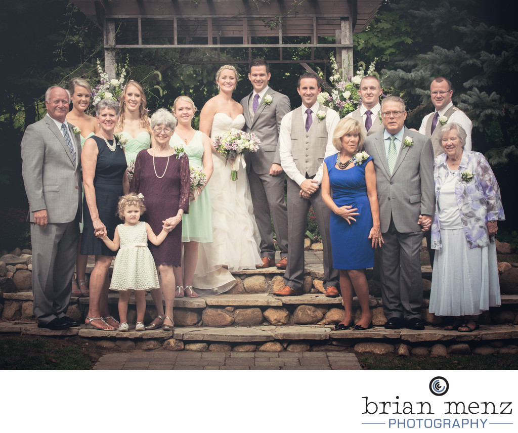 family formal mill creek barns wedding photography