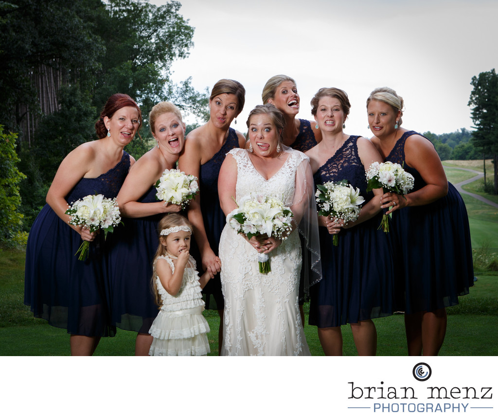 funny-faces-bridal-party-photo-kalamazoo-michigan-wedding